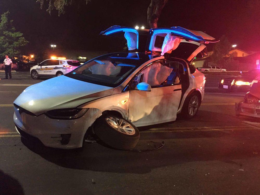 Tesla Model X Crash