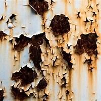 錆の浮いた鉄板の画像