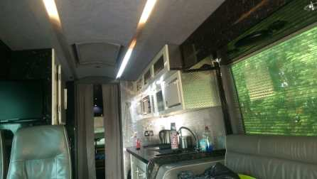 Converted bus motorhome