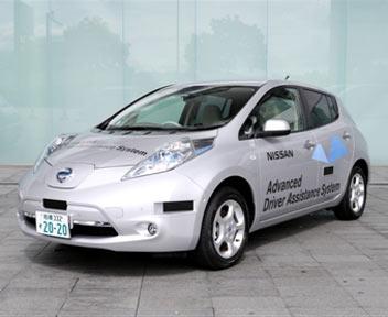 FOTO: Via ai test su strada in Giappone per la Nissan elettrica che si guida da sola