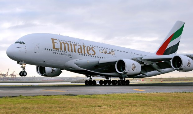 EK412 arriving into Sydney's International Airport after its very first flight from Dubai to Sydney and onto Auckland, New Zealand (Exclusive Pictures).