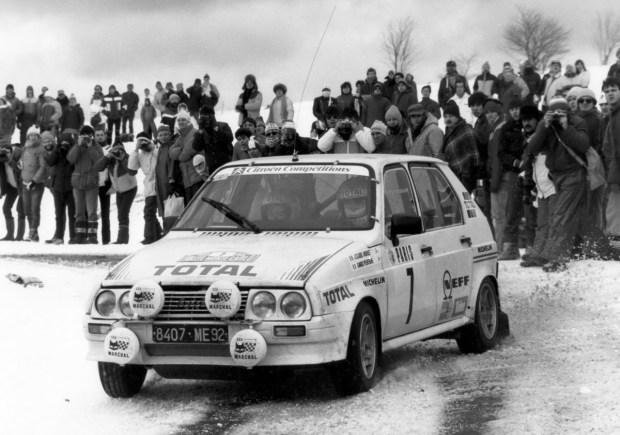 Jean Cloude Andruet al Rally di Monte Carlo 1985