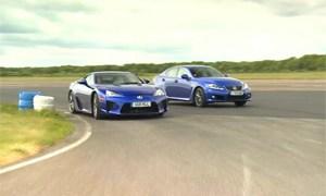 Lexus LFA vs Lexus IS F Battle in the UK Video
