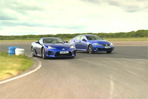 Lexus LFA vs Lexus IS F Battle in the UK Video