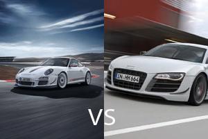 Audi R8 GT vs Porsche 911 GT3 RS 4.0