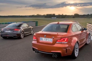 Audi TT-RS vs BMW 1 Series M on the Track Video