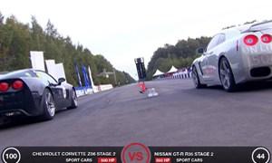 Nissan GT-R vs Z06 Corvette Video