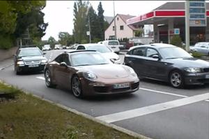 A Naked 911 Porsche 991 Caught in Stuttgart – Video