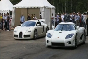 Bugatti vs Koenigsegg Drag Race – Video