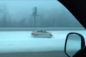 Friday Fail – Stupid Driver on Interstate 81 in Snow