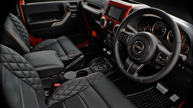 Copper Jeep Wrangler Military Edition Seats