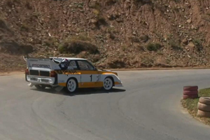 The Prospeed Audi S1Rips it up at the Kyustendil Hillclimb