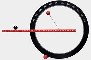 Black and Red Perpetual Calendar