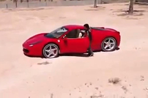 Kid drives Ferrari 458 Italia