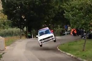 E30 BMW M3 Rally Crash