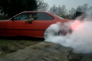 Idiot BMW Driver Burnout