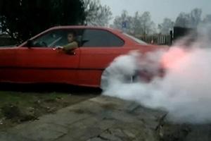 Idiot BMW Driver Burnout