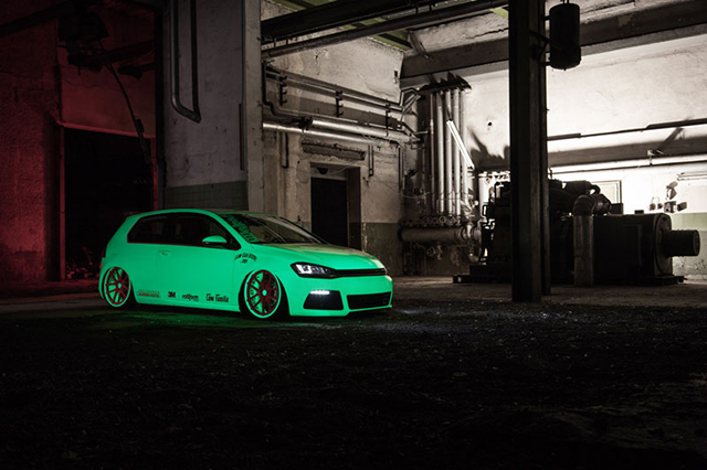 VW Golf Glow in the dark