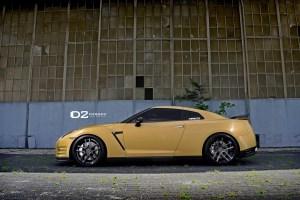Matte Gold GT-R w/D2Forged CV08 Deep Concave Wheels