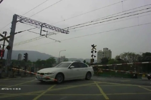 Friday FAIL Idiot BMW Driver Train Tracks