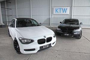 Black and White KTW Tuning BMW 116i