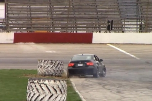 BMW Drift Crash