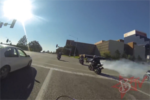 Friday FAIL Motorcycle burnout
