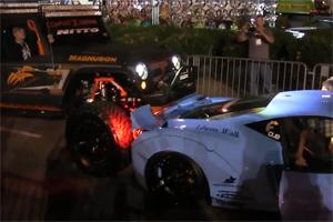 Liberty Walk Ferrari 458 SEMA Crash
