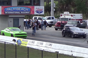 Dodge Challenger SRT Hellcat vs Tesla Model S P85D
