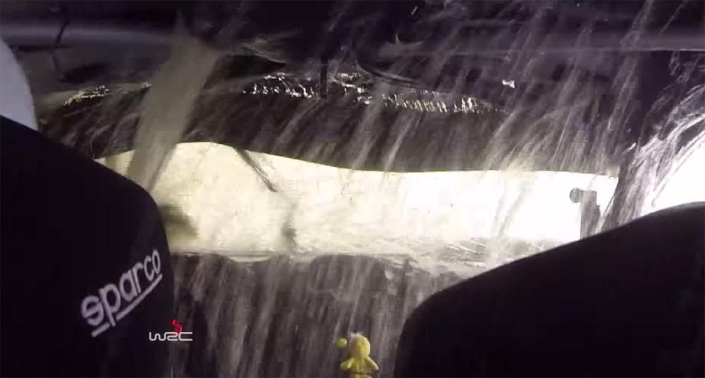 WRC Water Crash