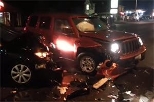 Friday FAIL Drunk Driver Crash