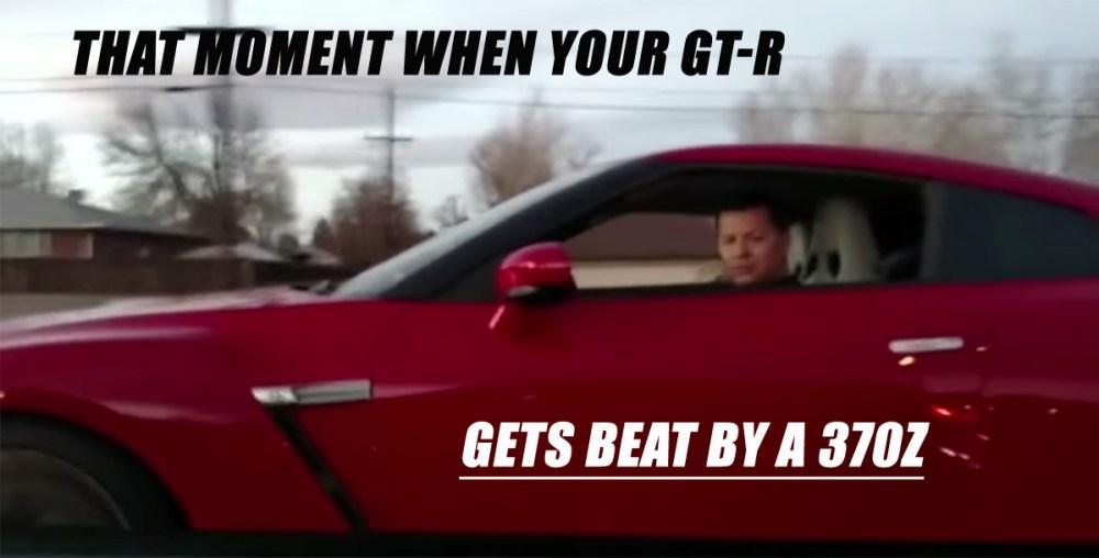 Nissan GT-R Beat by 370Z