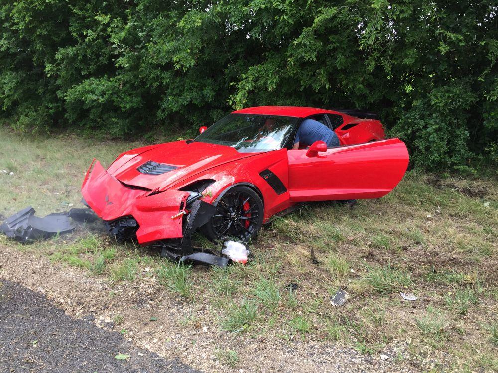 Corvette Z06 Crash