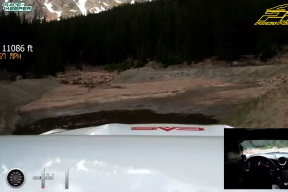 Randy Pobst Nissan GT-R Pikes Peak Crash