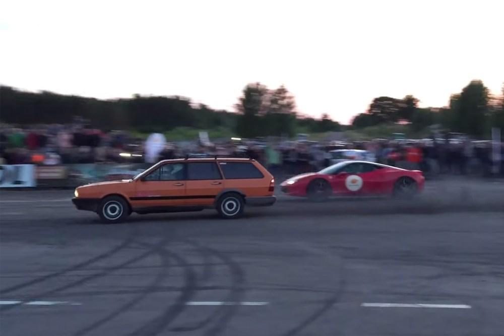 Volkswagen Passat vs Ferrari 458 Italia
