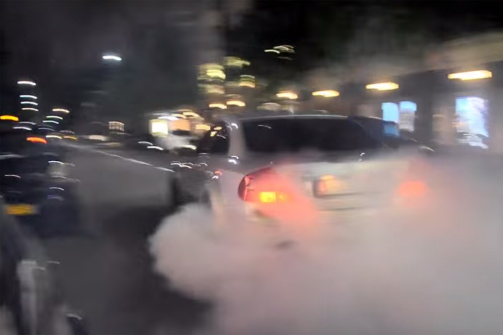 CLK63 AMG Black Series Argument Burnout