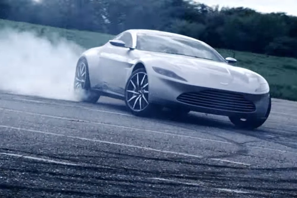 Aston Martin DB10 burnout