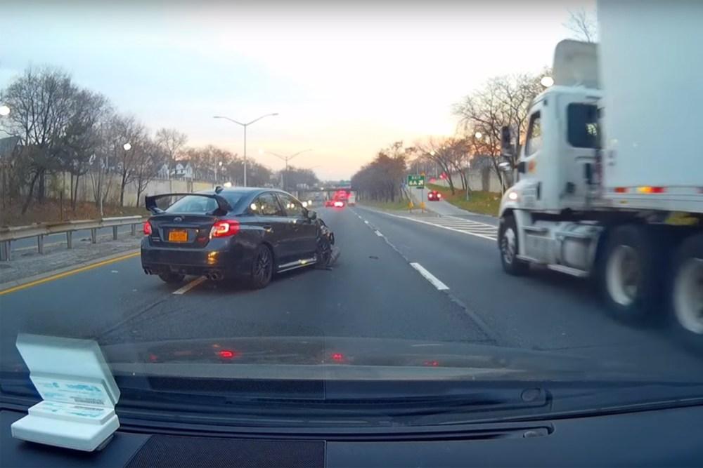 Subaru WRX STI Friday FAIL Crash