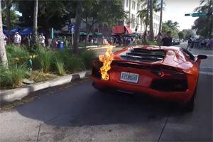 Lamborghini Aventador Fire Miami