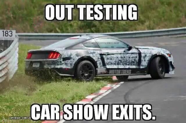 Mustang Crash Meme