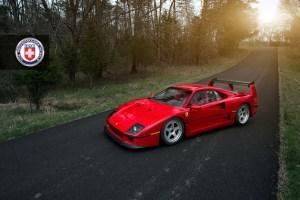 Ferrari F40 with HRE Classic 305 Wheels