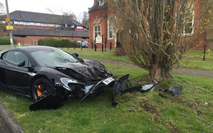 McLaren 650S Crash by DIANE EVANS/SWNS.COM