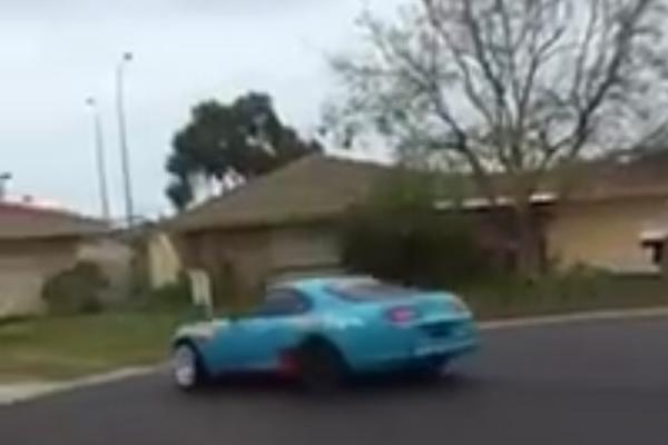 Toyota Supra Slide into House