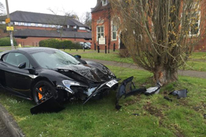 McLaren 650S Crash by DIANE EVANS/SWNS.COM
