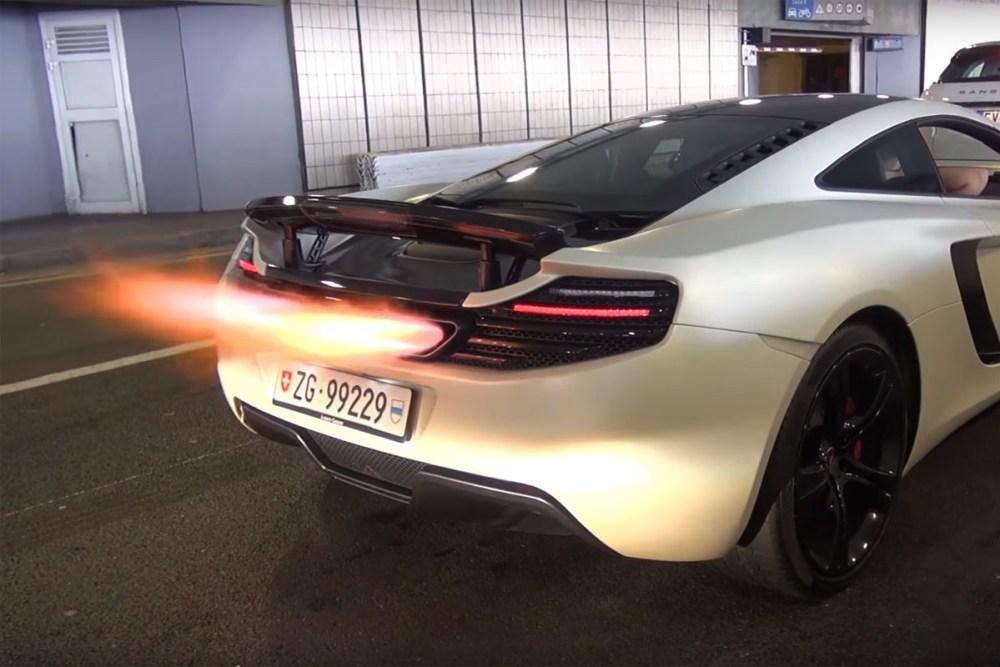 McLaren MP4-12C exhaust flames