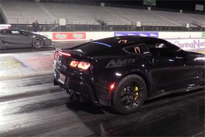 Underground Racing Twin Turbo Lamborghini Gallardo vs Corvette Z06