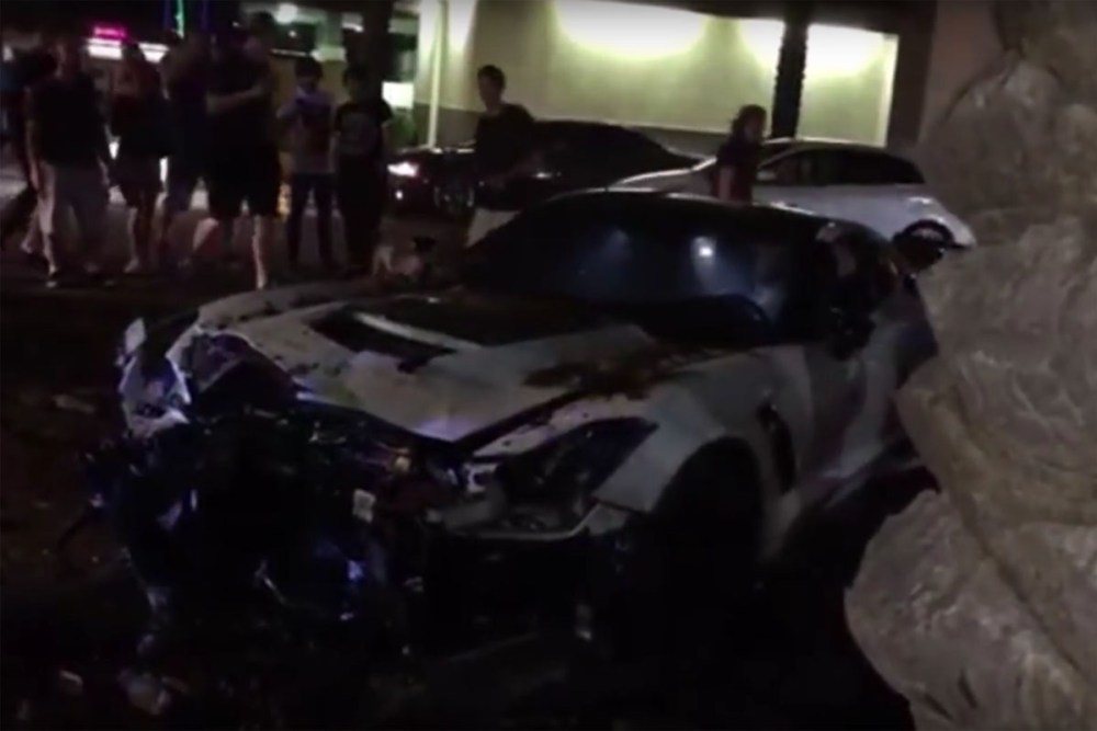 Friday FAIL: Chevrolet Corvette Z06 Crash