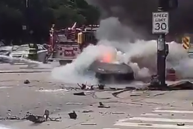 Lamborghini Huracan Crash in Chicago