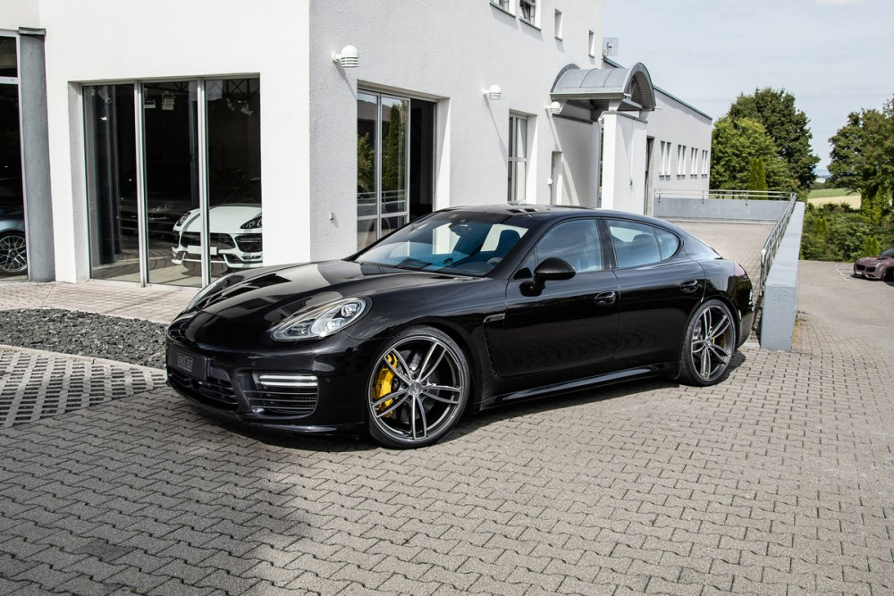 Porsche Panamera with TechArt Formula IV alloy wheels
