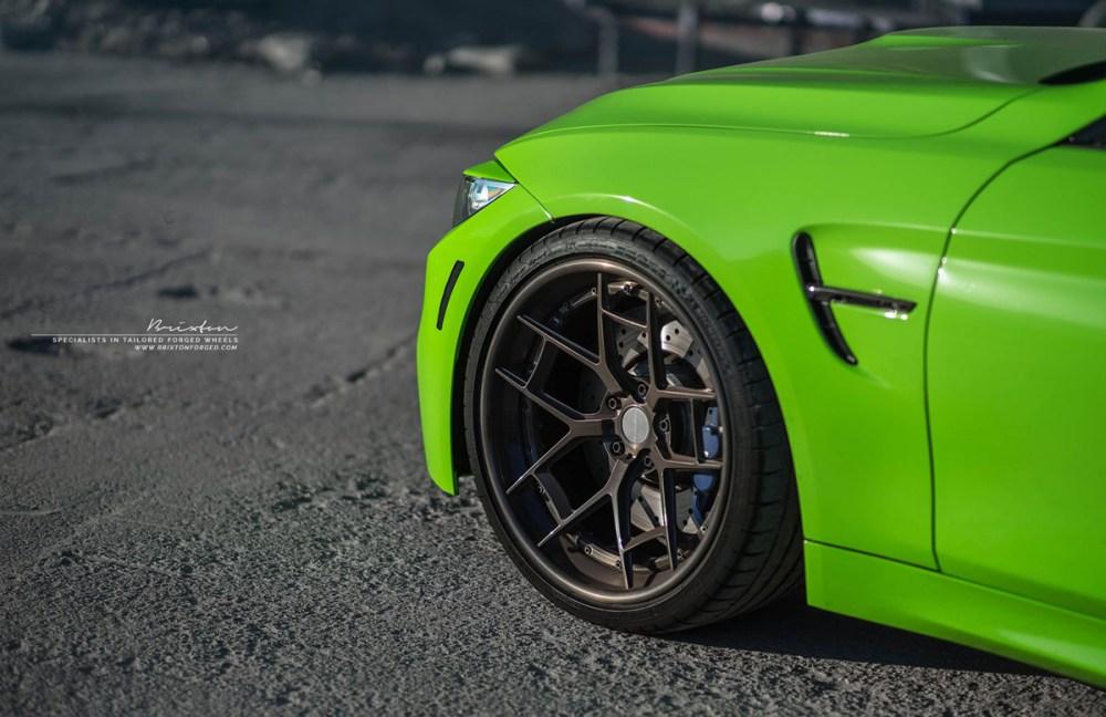 Java Green F82 BMW M4 with Brixton Forged WR5 Targa Series Wheels